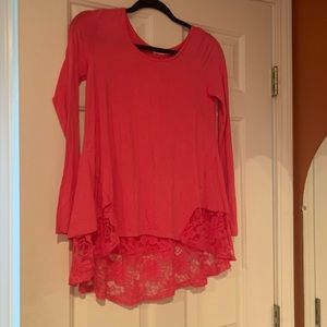 New pink lace tunic size small ~ADORABLE~!!!